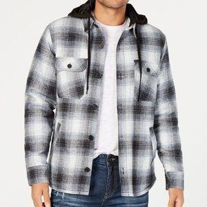 ⏰SALE American Rag Men Black Plaid Sherpa Coat